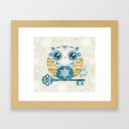 Winter Wonderland Owl Framed Art Print