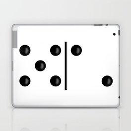 White Domino / Domino Blanco Laptop & iPad Skin