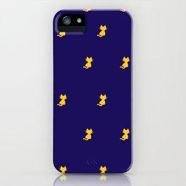 Yellow Cat Pattern - Digital illustration iPhone Case