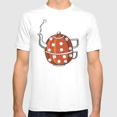 Tea party  White Mens Fitted Tee MEDIUM