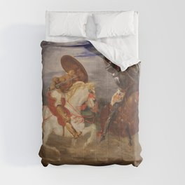 Eugne Delacroix - Confrontation of knights in the countryside Comforters