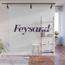 Feysand galaxy design white Wall Mural