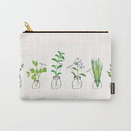 Mason Jar Herbs Carry-All Pouch
