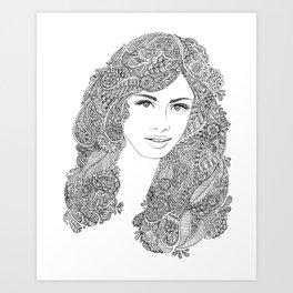 Magic Mane Art Print