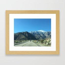 Mountain Snow in Palm Springs California Framed Art Print