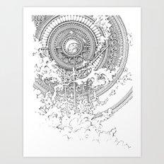 Alexander Bridge Bubble Art Print