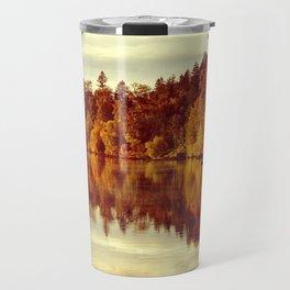 RIVER AUTUMNAL REFLECTION Travel Mug