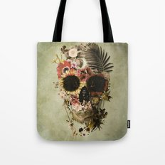 Garden Skull Light Tote Bag