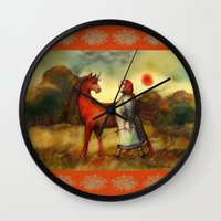 unicorn Wall Clocks featuring Unicorn by Iris V.