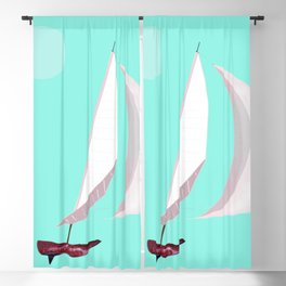 May Flying or Sailing in May - shoes stories Blackout Curtain