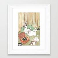 vinyl Framed Art Prints featuring Vinyl by Bluedogrose