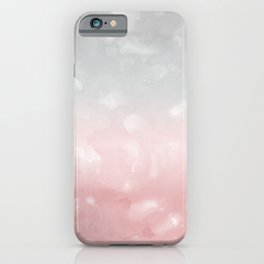 Touching Blush Gray Abstract Painting #1 #ink #decor #art #society6 iPhone Case