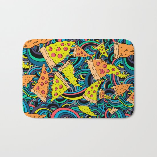 Pizza Meditation Bath Mat