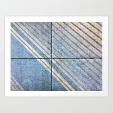 Sidewalk Stripes Art Print