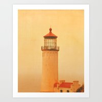 lighthouse Art Prints featuring LIGHTHOUSE by Teresa Chipperfield Studios