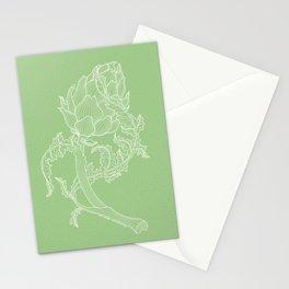 Artichoke. Easy Line Stationery Cards