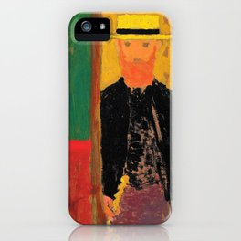 Self-portrait With Cane And Boater - Digital Remastered Edition iPhone Case