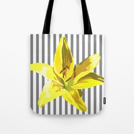yellow and grey stripes Tote Bag