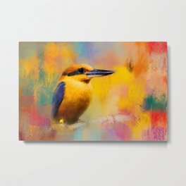 Colorful Expressions Kingfisher Metal Print