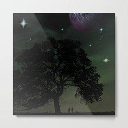 Spaceview at Sunset Metal Print