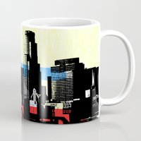 los angeles Mugs featuring Los Angeles by Amy Smith - ColorScape