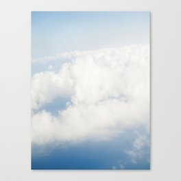 view from air. clouds Canvas Print