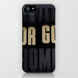 Go hard or go home 3d type black and gold iPhone Case