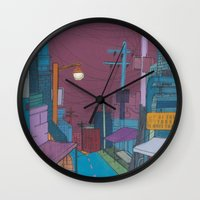 seoul Wall Clocks featuring Seoul City #2 by Rob McClelland