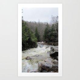 The River Runs Art Print