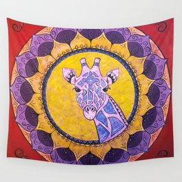 Compassion - Giraffe Mandala Wall Tapestry