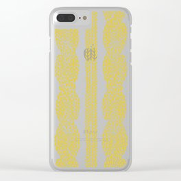 Cable Row Yellow Clear iPhone Case