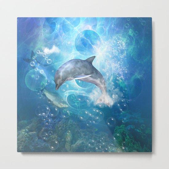 Cute dolphin Metal Print