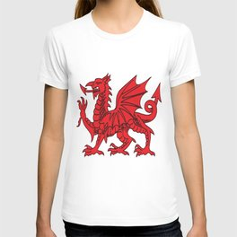 The Red Dragon or Y Ddraig Goch Isolated T-shirt