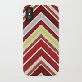 Red Chevron iPhone Case