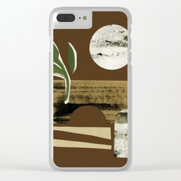 Bright Desert Moon Clear iPhone Case