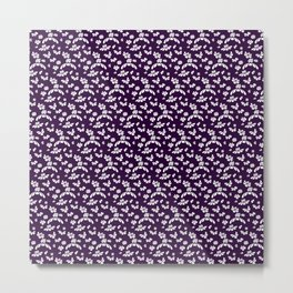 Purple Floral Metal Print