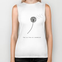 playstation Biker Tanks featuring Feel as free as a dandelion by eARTh