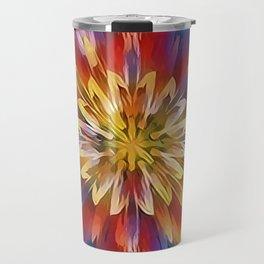 Color Flow Abstract Travel Mug