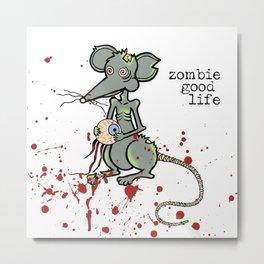 Zombie Mouse Metal Print