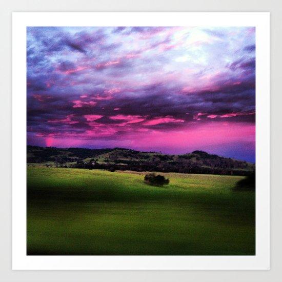 Aussie Sunset Art Print