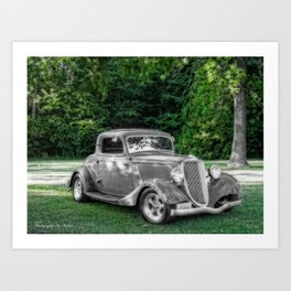 Past or Present 1934 Ford Art Print