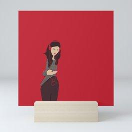 Red woman n2 Mini Art Print