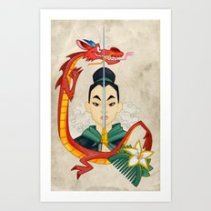 Mulan Tattoo Art Print