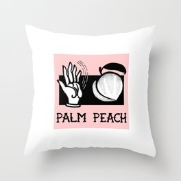Palm Peach Throw Pillow