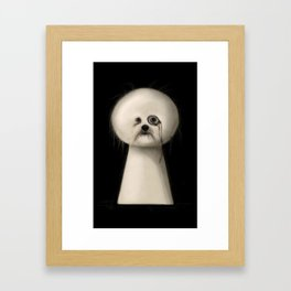 Pudel Framed Art Print