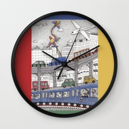 Taking the Red Line Wall Clock