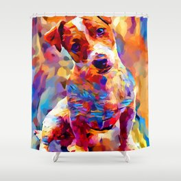 Jack Russell Terrier 3 Shower Curtain