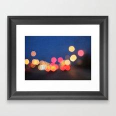 bokeh nights Framed Art Print