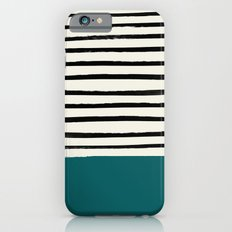 Dark Turquoise & Stripes Slim Case iPhone 6s