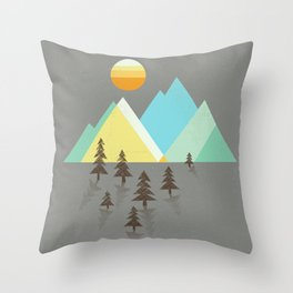 Asphalt Sun Throw Pillow